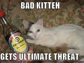 BAD KITTEH  GETS ULTIMATE THREAT