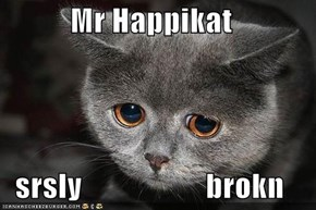 Mr Happikat  srsly                    brokn