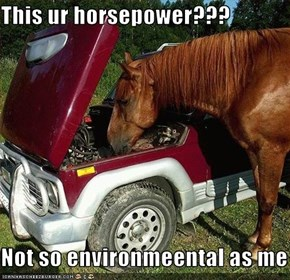 This ur horsepower???  Not so environmeental as me