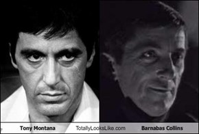 Tony Montana Totally Looks Like Barnabas Collins
