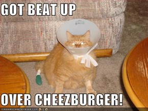 GOT BEAT UP  OVER CHEEZBURGER!