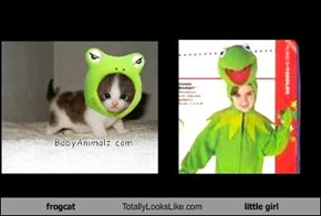 frogcat Totally Looks Like little girl