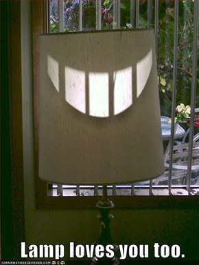 Lamp loves you too.