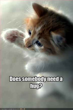 Does somebody need a hug?