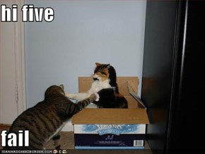 hi five  fail