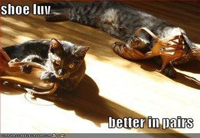 shoe luv  better in pairs