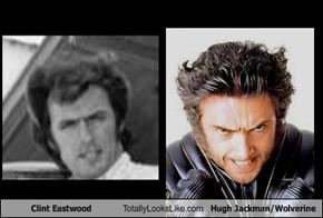Clint Eastwood Totally Looks Like Hugh Jackman/Wolverine