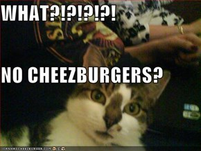 WHAT?!?!?!?! NO CHEEZBURGERS?