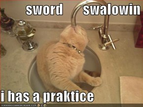 sword       swalowin  i has a praktice