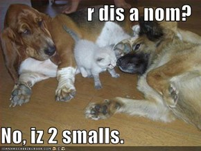 r dis a nom?  No, iz 2 smalls.