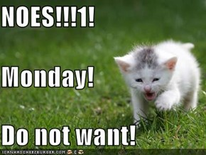 NOES!!!1! Monday! Do not want!