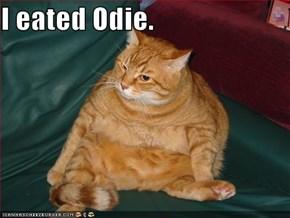 I eated Odie.