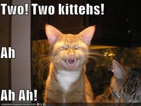 Two! Two kittehs! Ah Ah Ah!