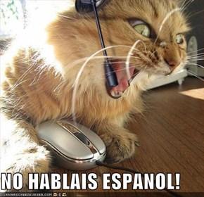 NO HABLAIS ESPANOL!
