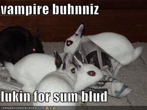 vampire buhnniz  lukin for sum blud