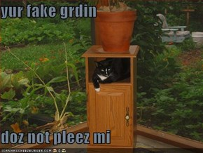 yur fake grdin   doz not pleez mi