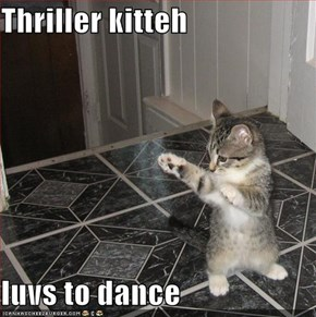 Thriller kitteh  luvs to dance