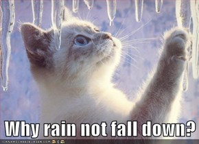 Why rain not fall down?