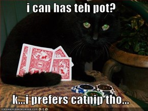 i can has teh pot?  k...i prefers catnip tho...