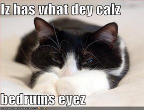 Iz has what dey calz  bedrums eyez