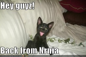 Hey guyz!  Back from Nrnia