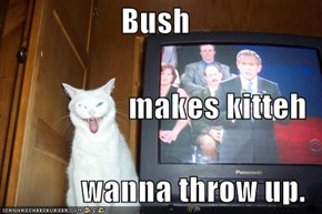 Bush makes kitteh wanna throw up.