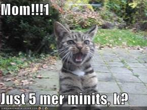 Mom!!!1  Just 5 mer minits, k?
