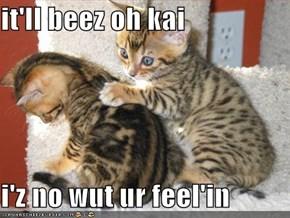 it'll beez oh kai  i'z no wut ur feel'in