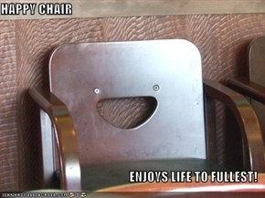HAPPY CHAIR  ENJOYS LIFE TO FULLEST!