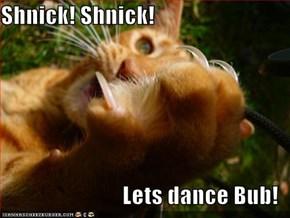 Shnick! Shnick!  Lets dance Bub!