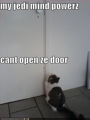 my jedi mind powerz  cant open ze door