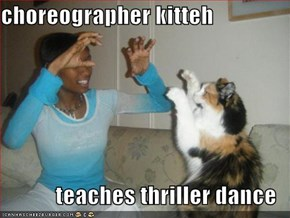 choreographer kitteh  teaches thriller dance
