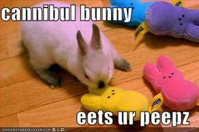 cannibul bunny  eets ur peepz
