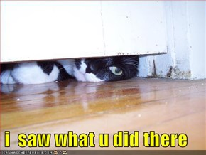 i  saw what u did there