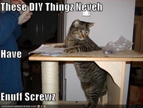 These DIY Thingz Neveh Have Enuff Screwz
