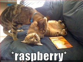 *raspberry*