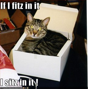 If I fitz in it  I sitz in it !