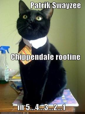 Patrik Swayzee Chippendale rootine  in 5...4...3...2...1