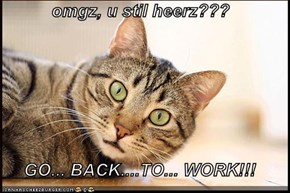 omgz, u stil heerz???   GO... BACK....TO... WORK!!!