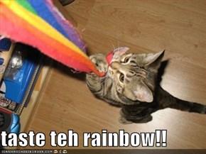 taste teh rainbow!!