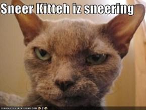 Sneer Kitteh iz sneering