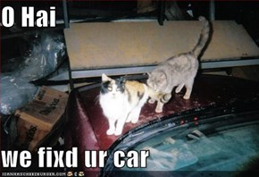 O Hai  we fixd ur car