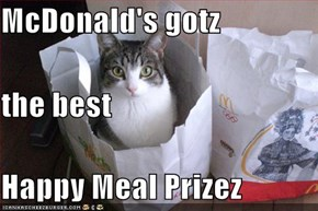 McDonald's gotz   the best Happy Meal Prizez