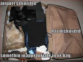 airport sekuritee haz diskuverd somethin inappropriate in ur bag