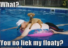 What?  You no liek my floaty?