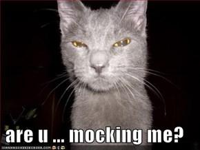 are u ... mocking me?