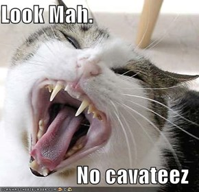 Look Mah.  No cavateez