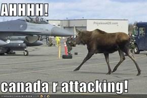 AHHHH!  canada r attacking!