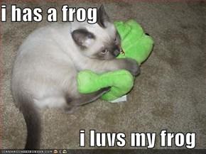 i has a frog  i luvs my frog