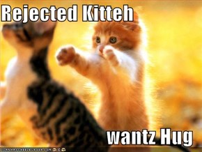 Rejected Kitteh  wantz Hug